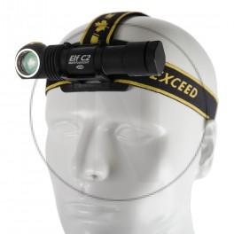 Lampe de poche frontal avec batterie rechargeable Armytek Elf C2 Micro-USB + Batterie 18650