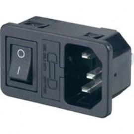 Embase Mâle IEC14 avec interrupteur et porte fusible