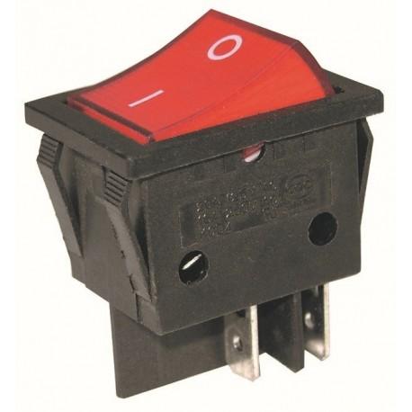 Interrupteur à bascule - rectangle - 2 positions - rouge